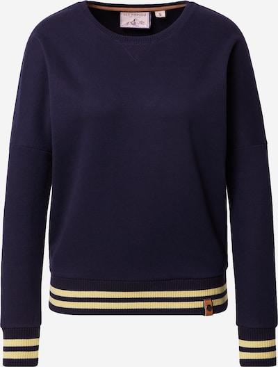 Fli Papigu Sweatshirt 'Shorty checkt ab' in dunkelblau / gelb, Produktansicht