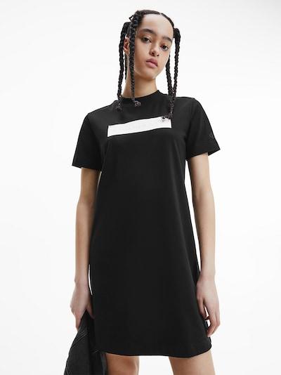 fekete / fehér Calvin Klein Jeans Ruha, Modell nézet