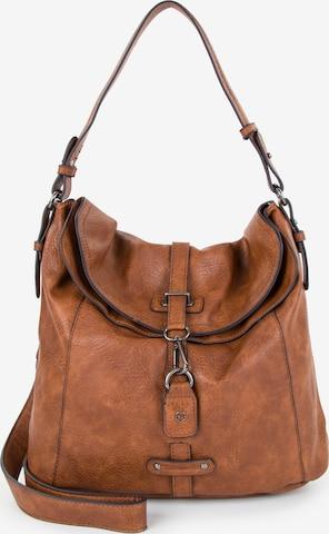 TAMARIS Shoulder bag 'BERNADETTE' in Brown