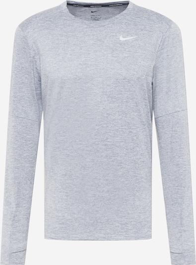 NIKE Sportshirt in graumeliert / weiß, Produktansicht