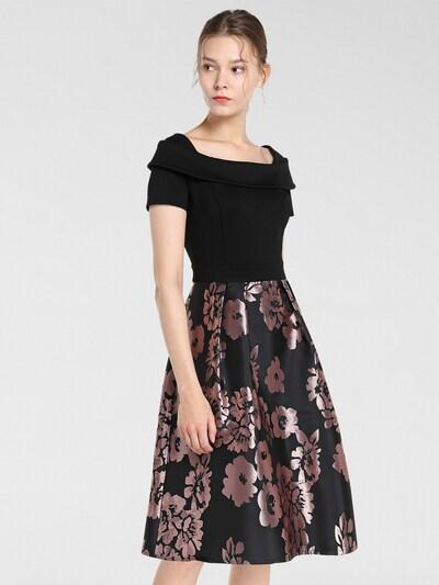 APART Kleid in lila / schwarz, Modelansicht