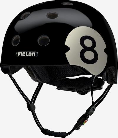 Melon Helm '8 Ball' in schwarz / weiß, Produktansicht