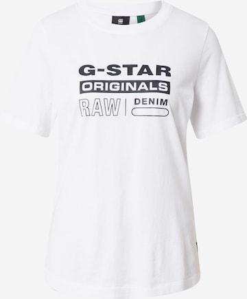 G-Star RAW Tričko - biela