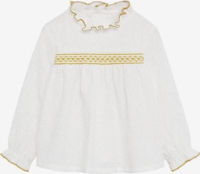 MANGO KIDS Bluse 'Circle' in gold / weiß, Produktansicht
