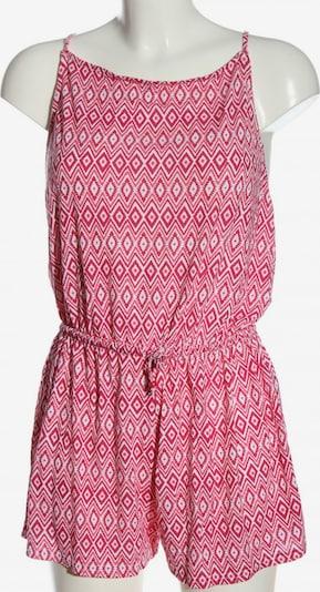 Janina Kurzer Jumpsuit in M in pink / rot / weiß, Produktansicht