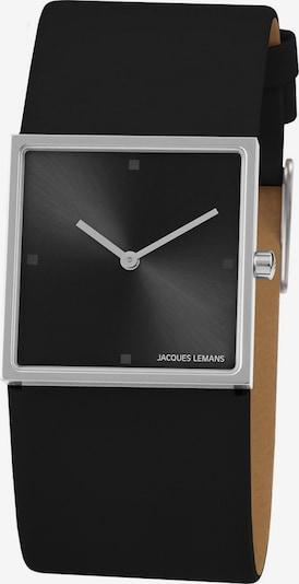 Jacques Lemans Uhr in silbergrau / schwarz, Produktansicht