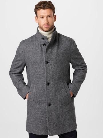 bugatti Between-seasons coat in Grey