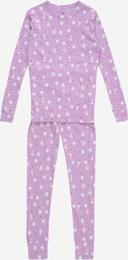 GAP Pajamas 'Snow' in light purple / pink / white, Item view