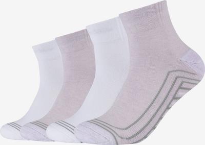 SKECHERS Socks 'Cushioned Quarter' in Grey / Purple / White, Item view