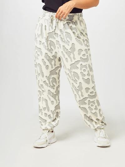 River Island Plus Pantalon 'Hacci' en crème / gris / noir, Vue avec modèle