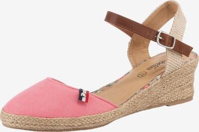 ambellis Classic Sandalette mit Keilabsatz in rosé, Produktansicht