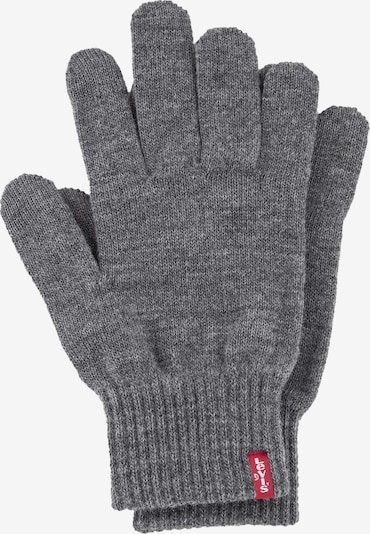 LEVI'S Full Finger Gloves 'Ben' in mottled grey, Item view