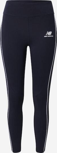 new balance Leggings in de kleur Nachtblauw / Wit, Productweergave