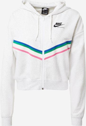 Nike Sportswear Sweatjacke in mischfarben / weiß, Produktansicht