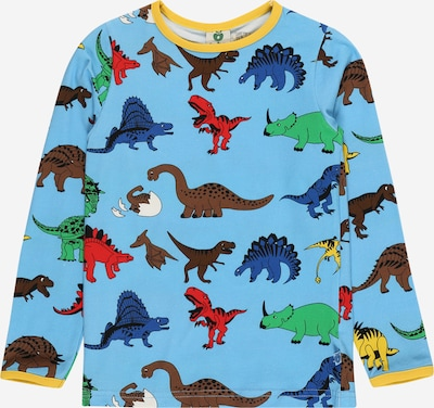 Småfolk Majica 'Dino' | marine / svetlo modra / rjava / rumena / zelena barva, Prikaz izdelka