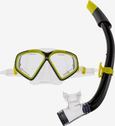 Aqua Lung Sport Schnorchel 'Combo Hawkeye' in gelb / schwarz / transparent, Produktansicht
