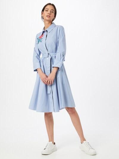 APART Kleid aus Baumwoll Mischgewebe in blau / weiß, Modelansicht