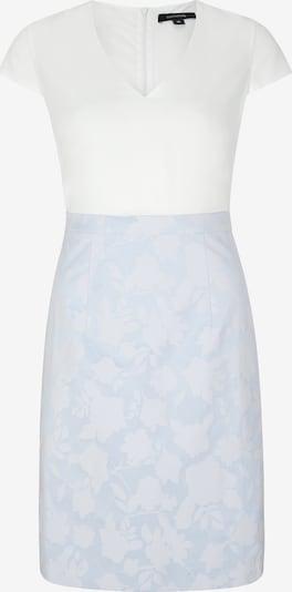 COMMA Robe fourreau en bleu clair / blanc, Vue avec produit