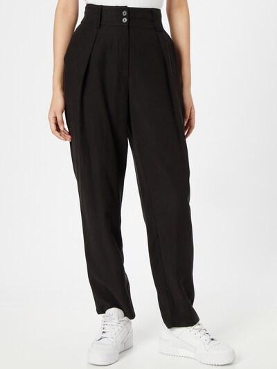 ABOUT YOU Kalhoty se sklady v pase 'Alina' - černá, Model/ka