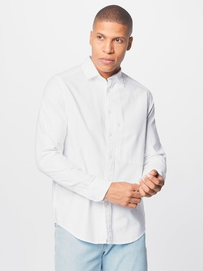 G-Star RAW Hemd 'Oxford' in weiß: Frontalansicht