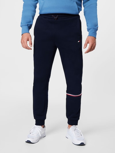 Tommy Sport Παντελόνι φόρμας σε σκούρο μπλε / κόκκινο / λευκό, Άποψη μοντέλου
