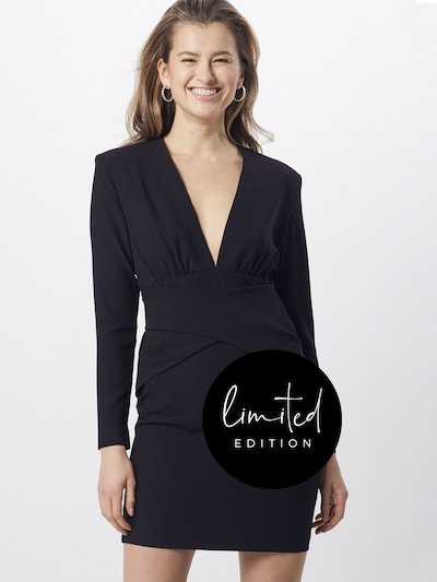 ABOUT YOU Limited Kleid 'Melisa' by Melisa in schwarz, Modelansicht