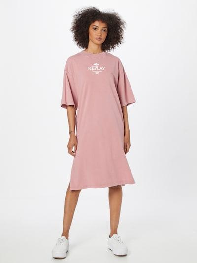REPLAY Haljina u prljavo roza / bijela, Prikaz modela