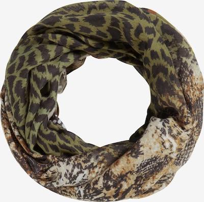 CODELLO Schal 'Wild Island' in beige / braun / oliv / schilf / schwarz, Produktansicht
