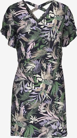 Vero Moda Curve Robe en bleu nuit / vert / lilas / mélange de couleurs / rose ancienne, Vue avec produit