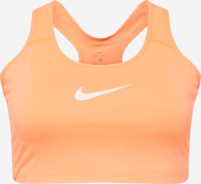 NIKE Sport-BH 'Swoosh' in orange / weiß, Produktansicht