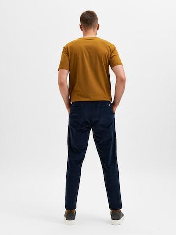 Pantalon chino 'Repton' SELECTED HOMME en bleu