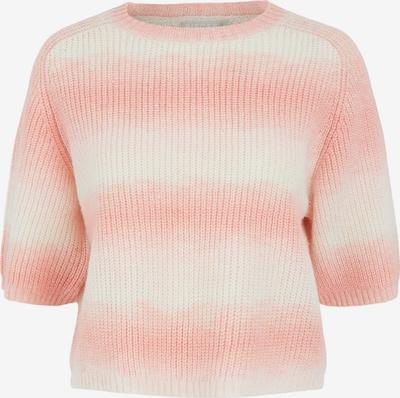 PIECES Pullover 'Goya' in koralle / weiß, Produktansicht