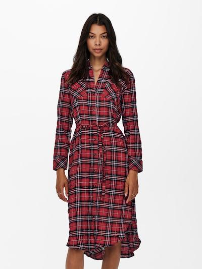 Rochie tip bluză 'PINA' ONLY pe roșu / negru / alb, Vizualizare model