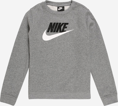 Nike Sportswear Sweatshirt 'Club Futura' in grey / black / white, Item view