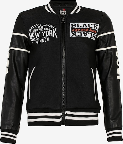 CIPO & BAXX Collegejacke 'New York Athletic' in schwarz, Produktansicht