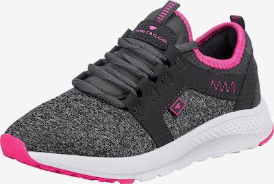 TOM TAILOR Sneakers in anthrazit / pink, Produktansicht