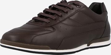 Sneaker bassa 'Saturn' di BOSS Casual in marrone