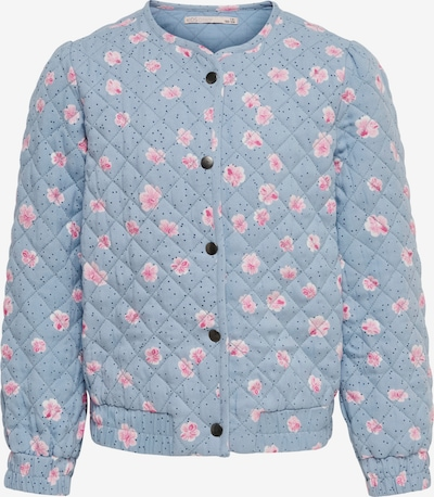 KIDS ONLY Tussenjas 'Fia' in de kleur Smoky blue / Rosa / Wit, Productweergave