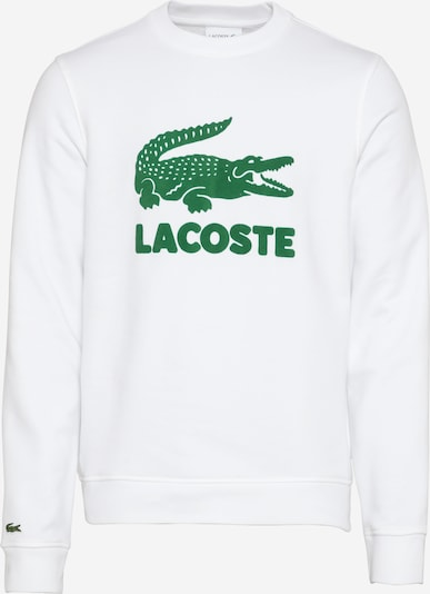 LACOSTE Sweatshirt in grün / weiß, Produktansicht