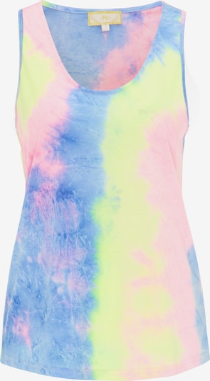 MYMO Top in blau / zitrone / pink, Produktansicht