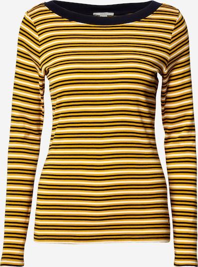 EDC BY ESPRIT Shirt in nachtblau / goldgelb / weiß, Produktansicht