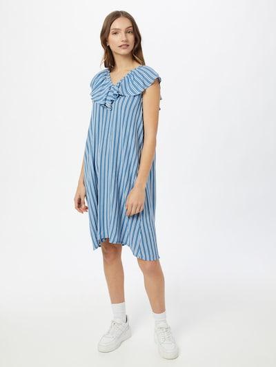 ICHI Kleid in blau / weiß, Modelansicht