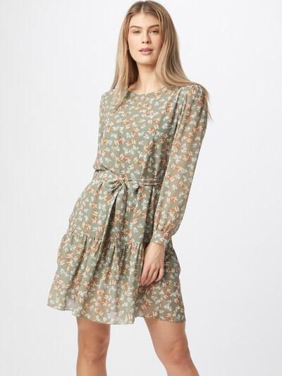 ZABAIONE Kleid 'Merle' in azur / pastellgrün / dunkelorange / weiß, Modelansicht