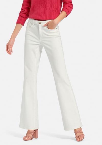 Laura Biagiotti Roma Bootcut-Jeans im 5-Pocket-Stil in weiß, Modelansicht