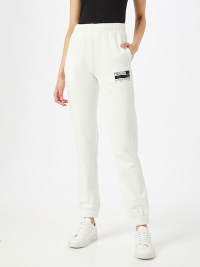 Pantaloni HUGO pe negru / alb, Vizualizare model