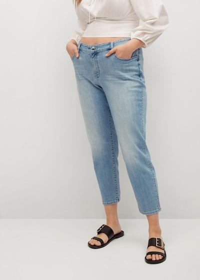 VIOLETA by Mango Jeans 'Claudia' in himmelblau, Modelansicht