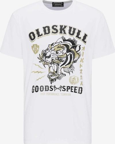 Oldskull Oldskull T-shirt print in weiß, Produktansicht
