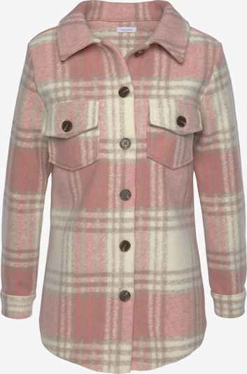 LASCANA Winter Coat in Cream / Dusky pink, Item view