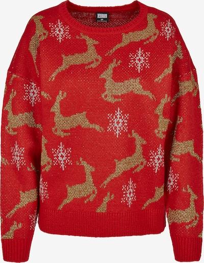 Urban Classics Pullover in braun / rot / weiß, Produktansicht