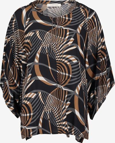 Cartoon Casual-Bluse mit Muster in braun / schwarz / weiß, Produktansicht